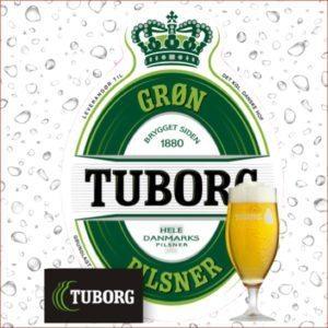 grøn tuborg øl glas